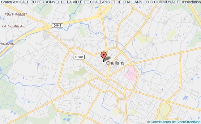 plan association Amicale Du Personnel De La Ville De Challans Et De Challans Gois CommunautÉ