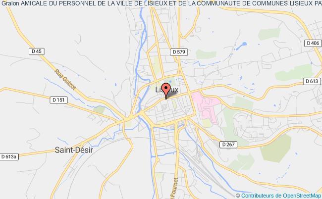 plan association Amicale Du Personnel De La Ville De Lisieux Et De La Communaute De Communes Lisieux Pays D'auge