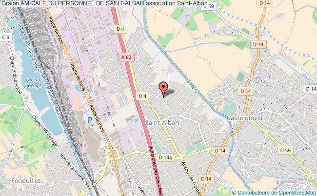 plan association Amicale Du Personnel De Saint-alban