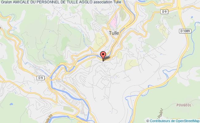 plan association Amicale Du Personnel De Tulle Agglo