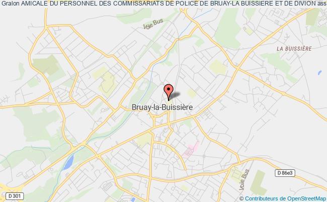 plan association Amicale Du Personnel Des Commissariats De Police De Bruay-la Buissiere Et De Divion