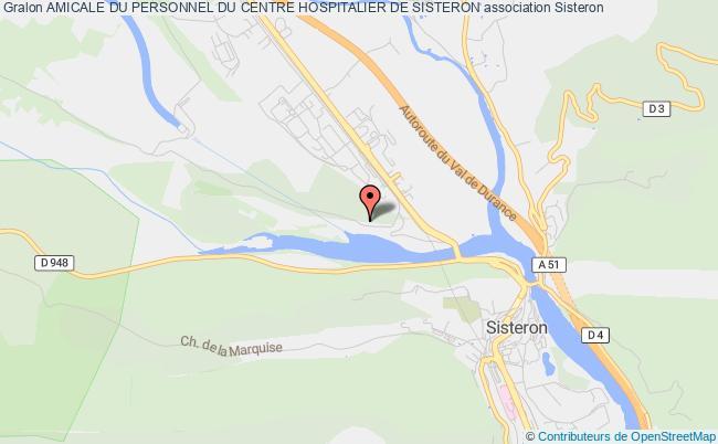 plan association Amicale Du Personnel Du Centre Hospitalier De Sisteron