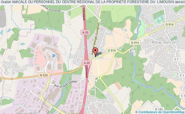 plan association Amicale Du Personnel Du Centre RÉgional De La PropriÉtÉ ForestiÈre Du  Limousin