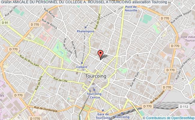 plan association Amicale Du Personnel Du College A. Roussel A Tourcoing