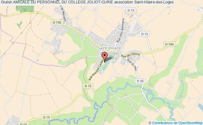 plan association Amicale Du Personnel Du College Joliot-curie