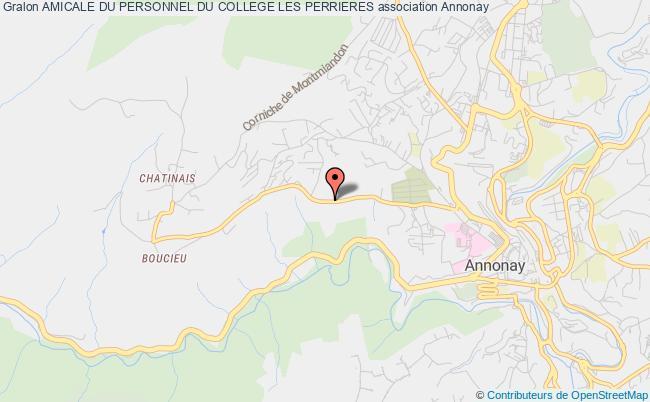 plan association Amicale Du Personnel Du College Les Perrieres