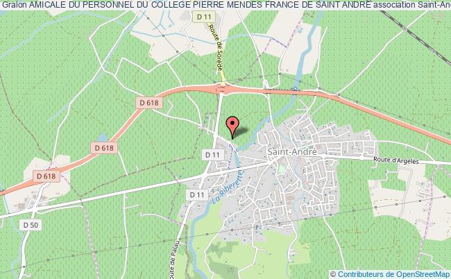 plan association Amicale Du Personnel Du College Pierre Mendes France De Saint Andre