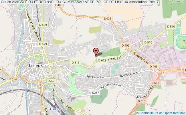 plan association Amicale Du Personnel Du Commissariat De Police De Lisieux