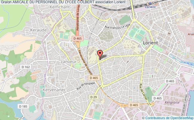 plan association Amicale Du Personnel Du Lycee Colbert Lorient