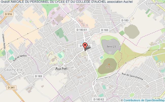 plan association Amicale Du Personnel Du Lycee Et Du College D'auchel