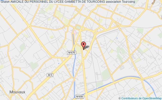 plan association Amicale Du Personnel Du LycÉe Gambetta De Tourcoing