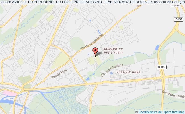 plan association Amicale Du Personnel Du LycÉe Professionnel Jean Mermoz De Bourges Bourges