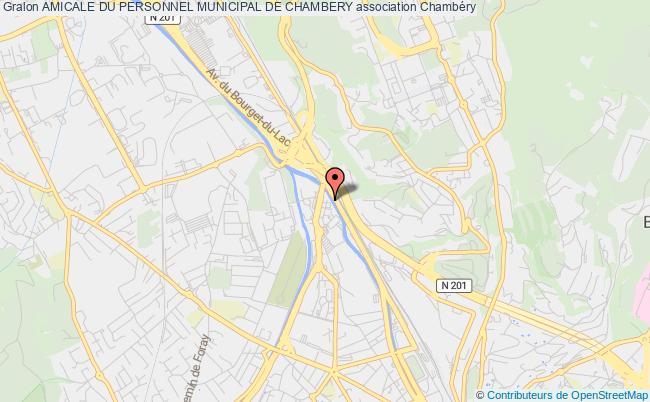 plan association Amicale Du Personnel Municipal De Chambery