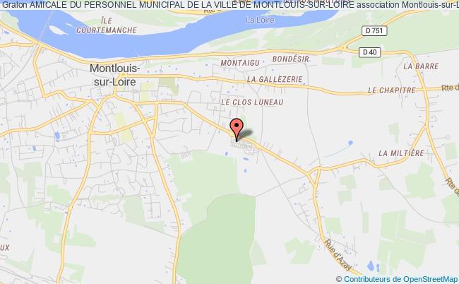 plan association Amicale Du Personnel Municipal De La Ville De Montlouis-sur-loire