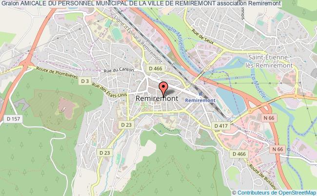 plan association Amicale Du Personnel Municipal De La Ville De Remiremont Remiremont