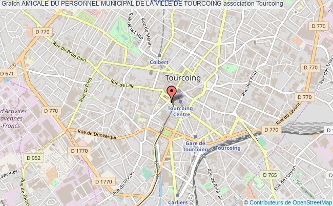 plan association Amicale Du Personnel Municipal De La Ville De Tourcoing