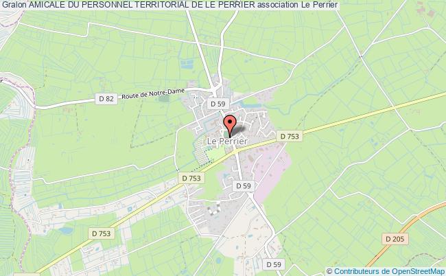 plan association Amicale Du Personnel Territorial De Le Perrier