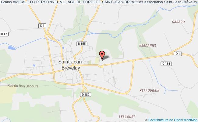 plan association Amicale Du Personnel Village Du Porhoet Saint-jean-brevelay Saint-Jean-Brévelay