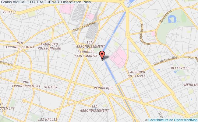 plan association Amicale Du Traquenard