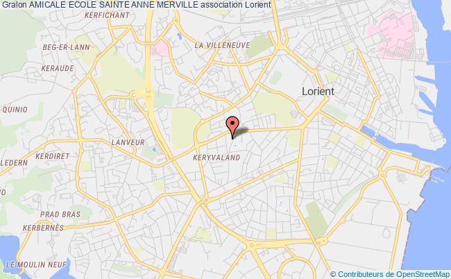 plan association Amicale Ecole Sainte Anne Merville