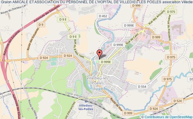 plan association Amicale Et Association Du Personnel De L'hopital De Villedieu Les Poeles Villedieu-les-Poêles