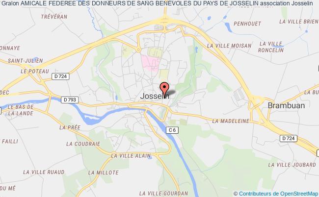 plan association Amicale Federee Des Donneurs De Sang Benevoles Du Pays De Josselin Josselin
