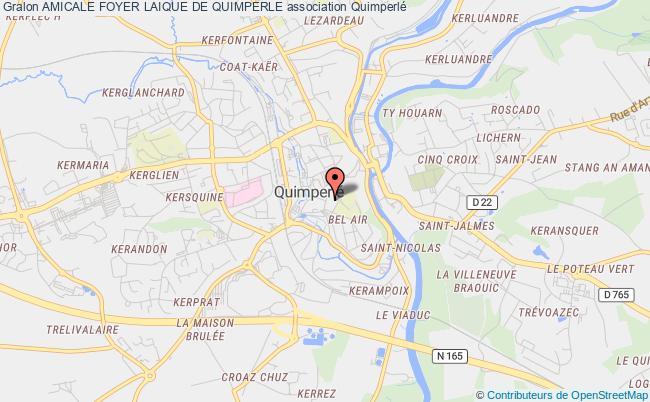 plan association Amicale Foyer Laique De Quimperle