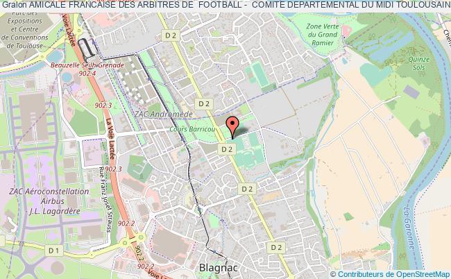 plan association Amicale Francaise Des Arbitres De  Football -  Comite Departemental Du Midi Toulousain Et Haute Garonne (a.f.a.f.)