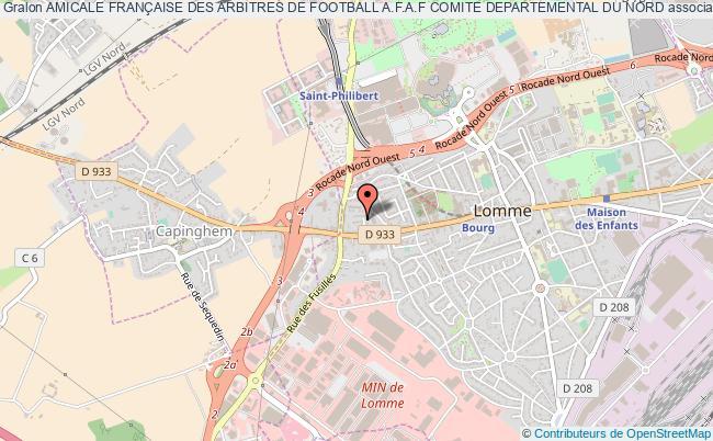 plan association Amicale FranÇaise Des Arbitres De Football A.f.a.f Comite Departemental Du Nord Lomme