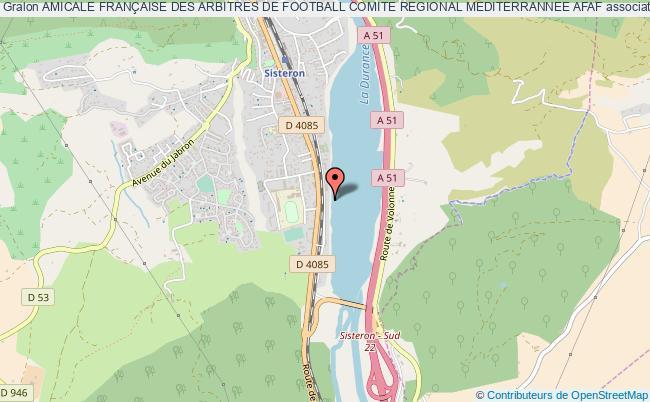 plan association Amicale FranÇaise Des Arbitres De Football Comite Regional Mediterrannee Afaf