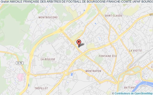 plan association Amicale FranÇaise Des Arbitres De Football De Bourgogne-franche-comtÉ (afaf Bourgogne-franche-comtÉ - Afaf Bfc)