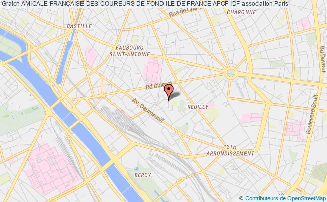 plan association Amicale FranÇaise Des Coureurs De Fond Ile De France Afcf Idf