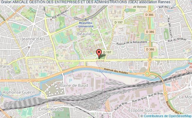 plan association Amicale Gestion Des Entreprises Et Des Administrations (gea)