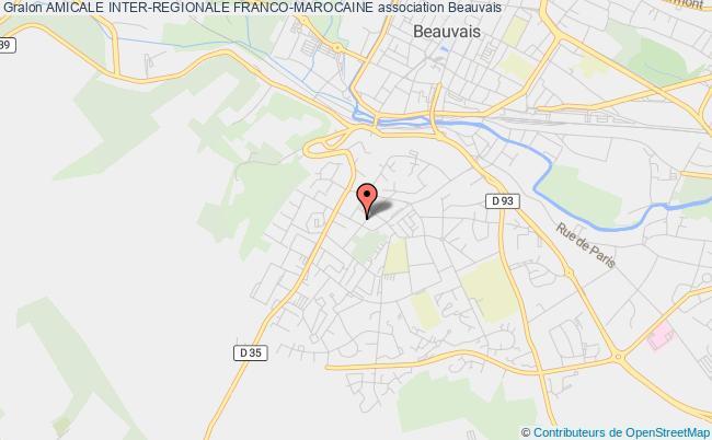 plan association Amicale Inter-regionale Franco-marocaine Beauvais