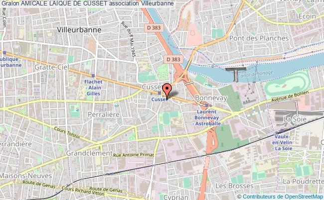 plan association Amicale Laique De Cusset