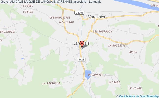 plan association Amicale Laique De Lanquais-varennes Lanquais