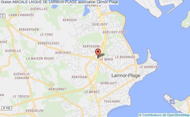 plan association Amicale LaÏque De Larmor-plage
