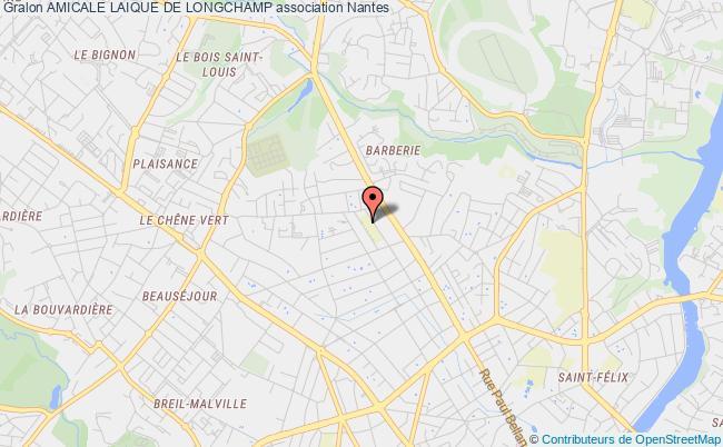 plan association Amicale Laique De Longchamp