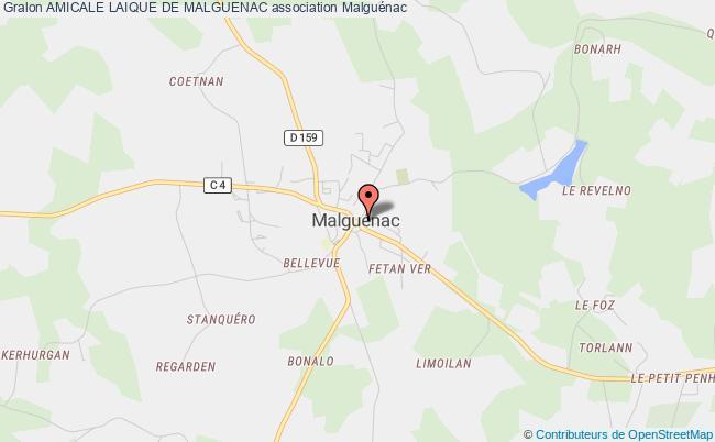 plan association Amicale Laique De Malguenac Malguénac