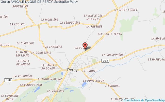 plan association Amicale Laique De Percy Percy