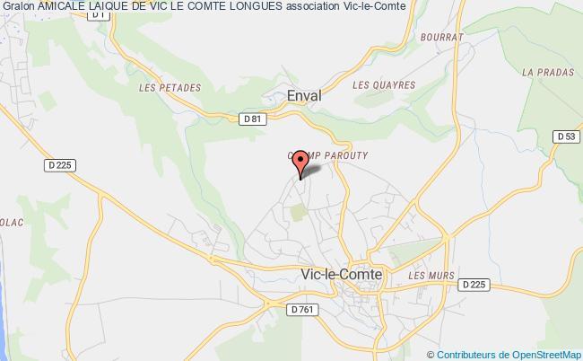 plan association Amicale Laique De Vic Le Comte Longues Vic-le-Comte