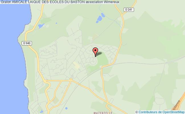 plan association Amicale Laique Des Ecoles Du Baston Wimereux