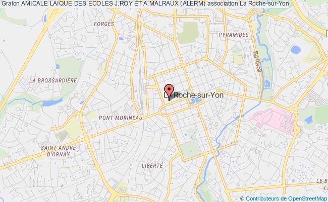 plan association Amicale Laique Des Ecoles J.roy Et A.malraux (alerm) Roche-sur-Yon