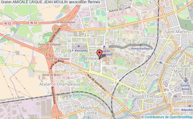 plan association Amicale Laique Jean Moulin