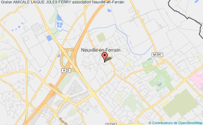 plan association Amicale Laique Jules Ferry Neuville-en-Ferrain