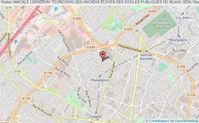 plan association Amicale Lasseron Tourcoing Des Anciens Eleves Des Ecoles Publiques Du Blanc Seau