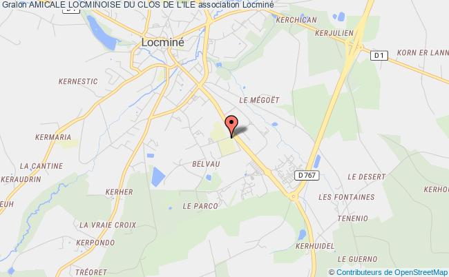 plan association Amicale Locminoise Du Clos De L'ile Locminé