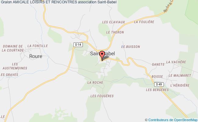 plan association Amicale Loisirs Et Rencontres Saint-Babel