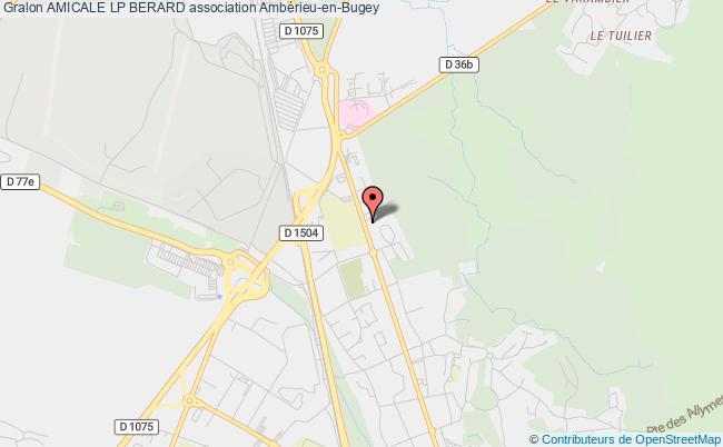 plan association Amicale Lp Berard Ambérieu-en-Bugey