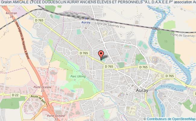 """plan association Amicale Lycee Duguesclin Auray Anciens Eleves Et Personnels """"a.l.d.a.a.e.e.p"""""""